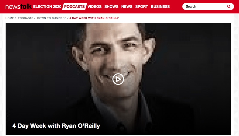 Newstalk – 4 Day week with Ryan O'Reilly